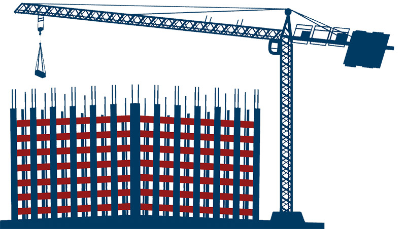 Mechanical Contracting New Building Illustration